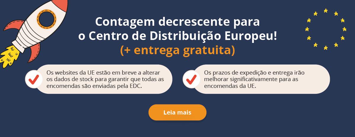Centro de Distribuição Europeu e portes gratuitos